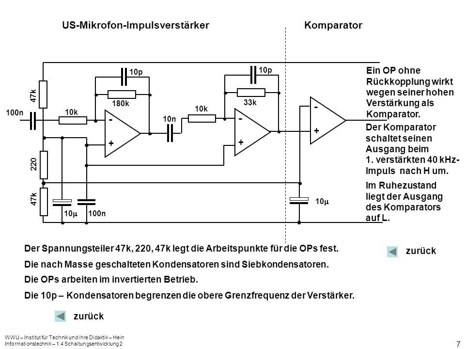 - - - US-Mikrofon-Impulsverstärker Komparator