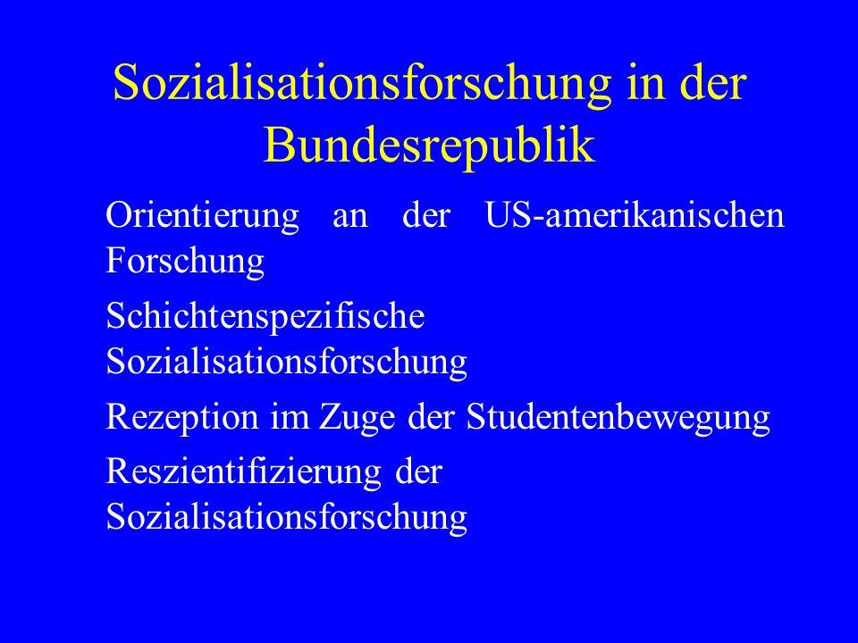 Sozialisationsforschung in der Bundesrepublik