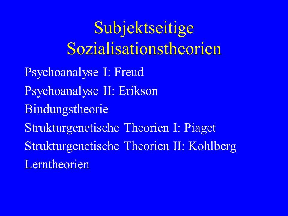 Subjektseitige Sozialisationstheorien