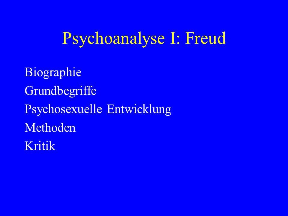 Psychoanalyse I: Freud
