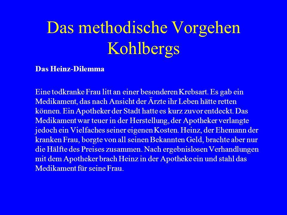 Das methodische Vorgehen Kohlbergs