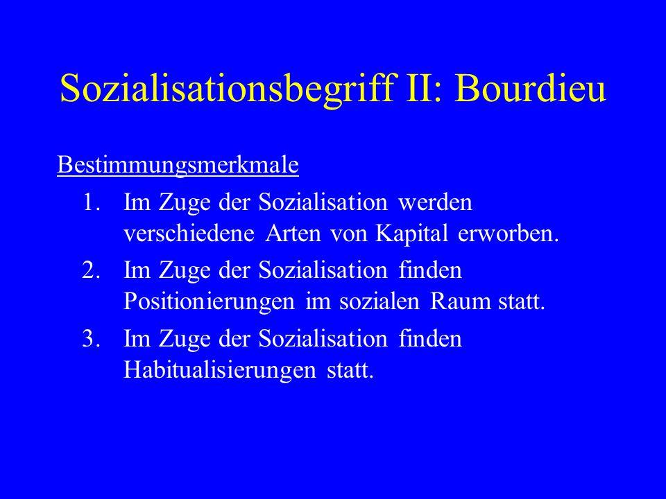 Sozialisationsbegriff II: Bourdieu
