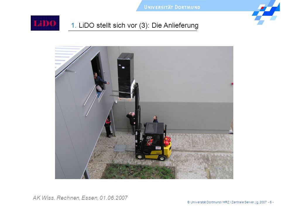 1. LiDO stellt sich vor (3): Die Anlieferung