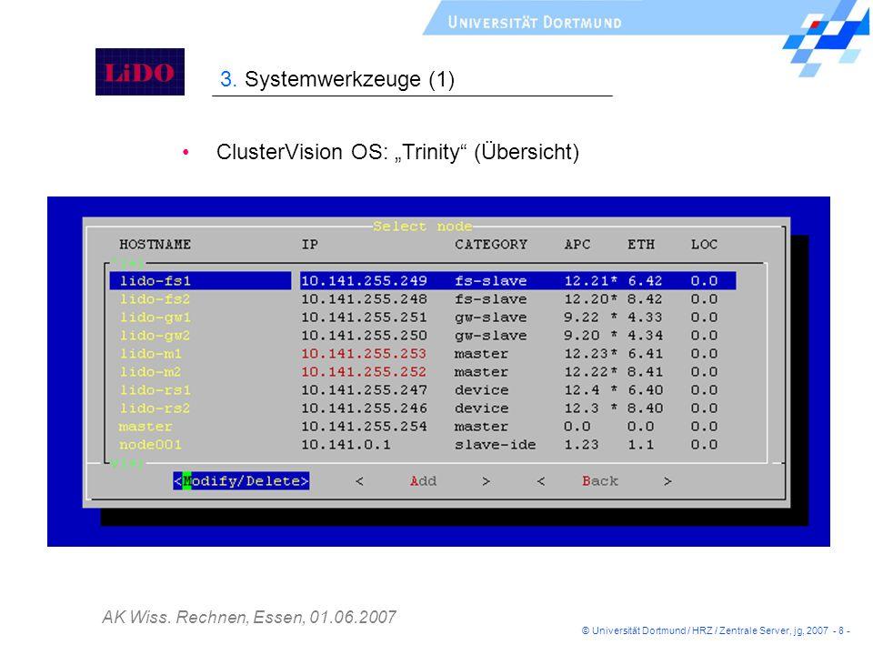 "ClusterVision OS: ""Trinity (Übersicht)"