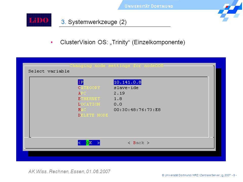 """ClusterVision OS: """"Trinity (Einzelkomponente)"""