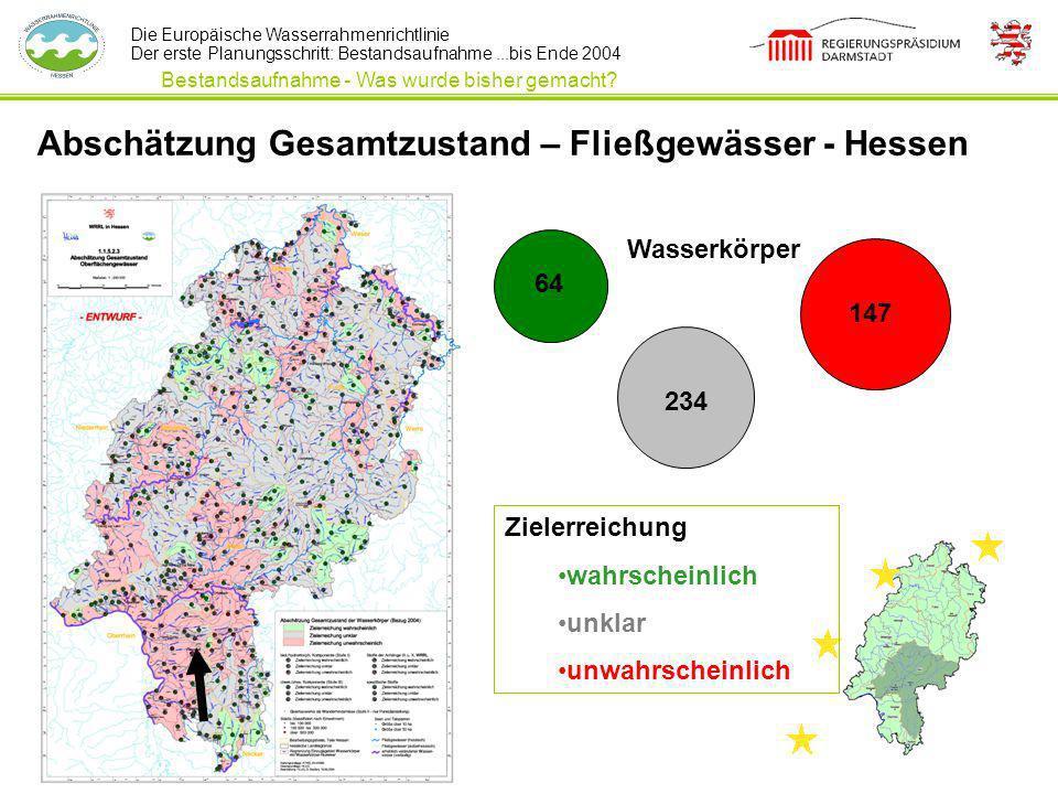 Abschätzung Gesamtzustand – Fließgewässer - Hessen