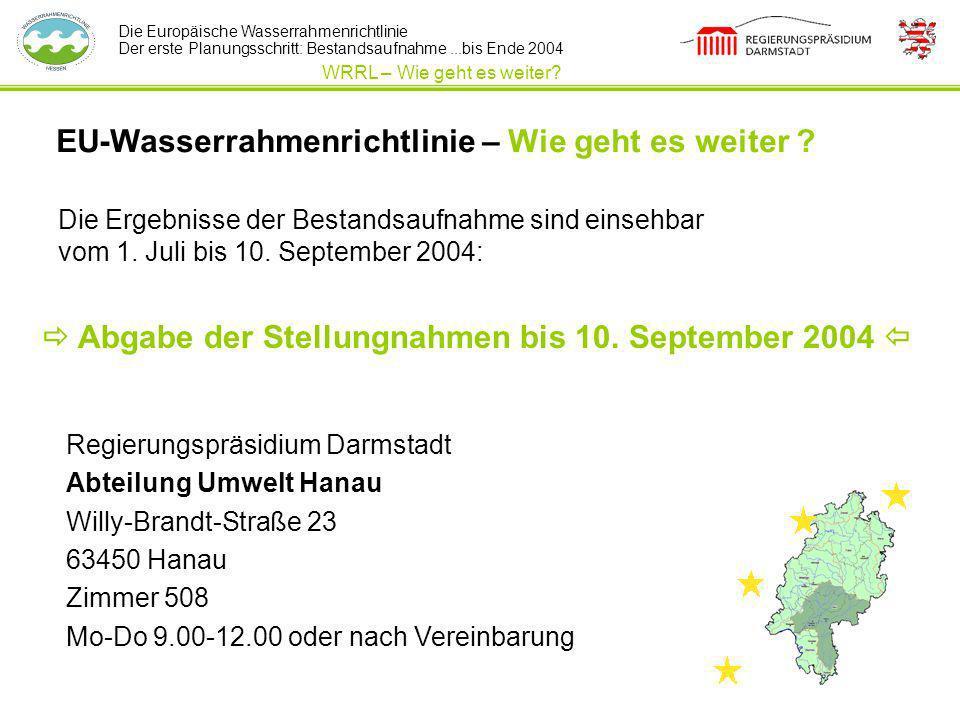EU-Wasserrahmenrichtlinie – Wie geht es weiter