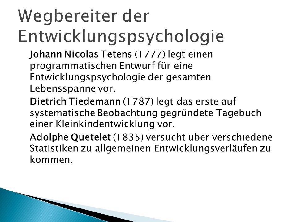 Wegbereiter der Entwicklungspsychologie