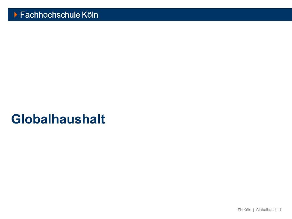  Fachhochschule Köln Globalhaushalt
