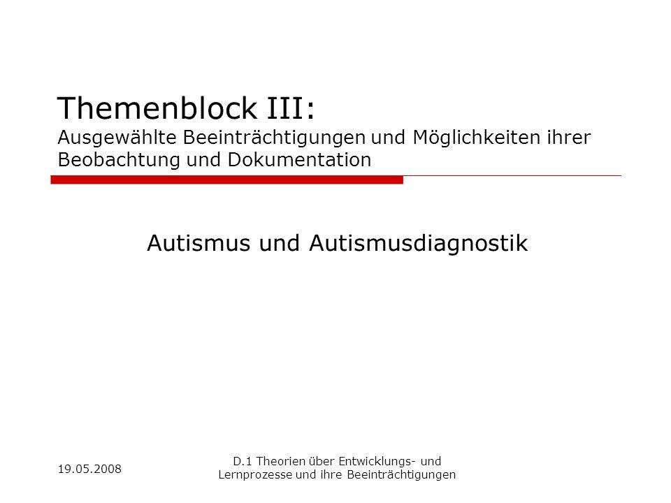 Autismus und Autismusdiagnostik