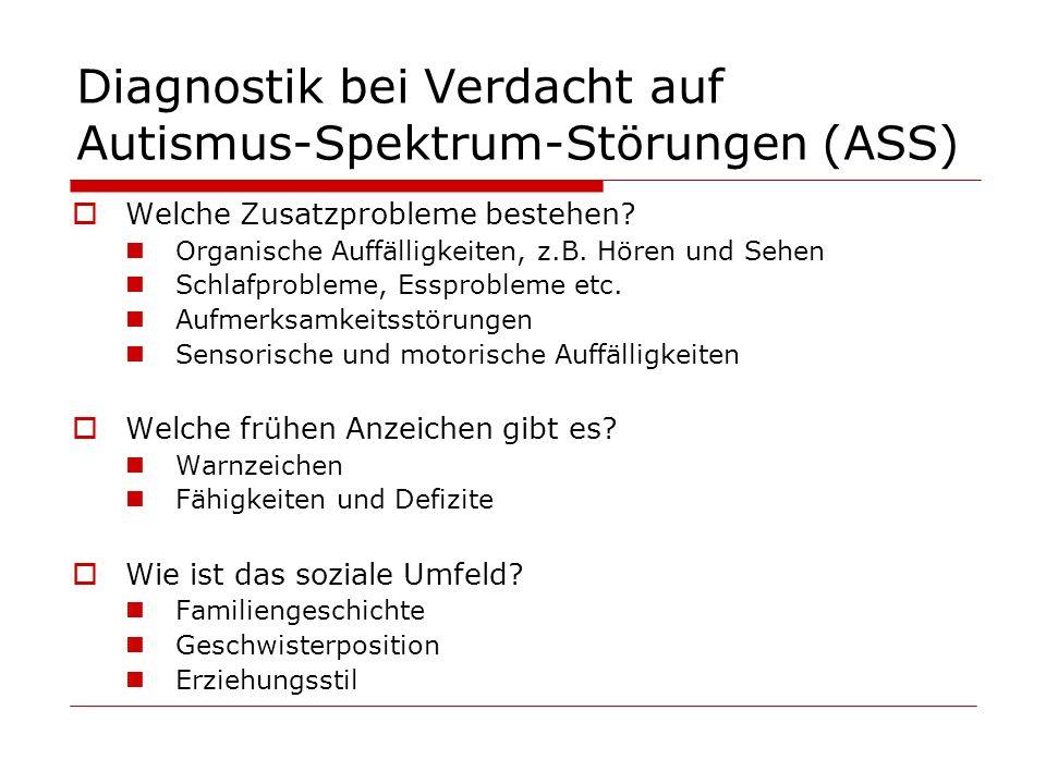 Diagnostik bei Verdacht auf Autismus-Spektrum-Störungen (ASS)
