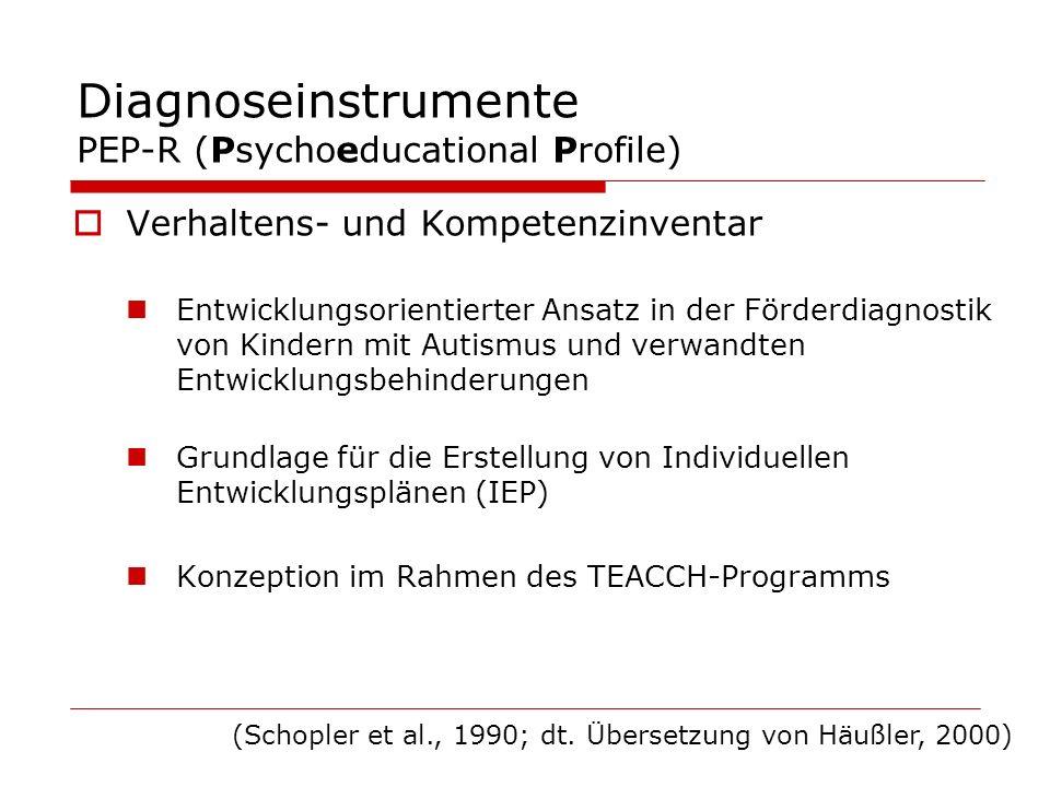 Diagnoseinstrumente PEP-R (Psychoeducational Profile)