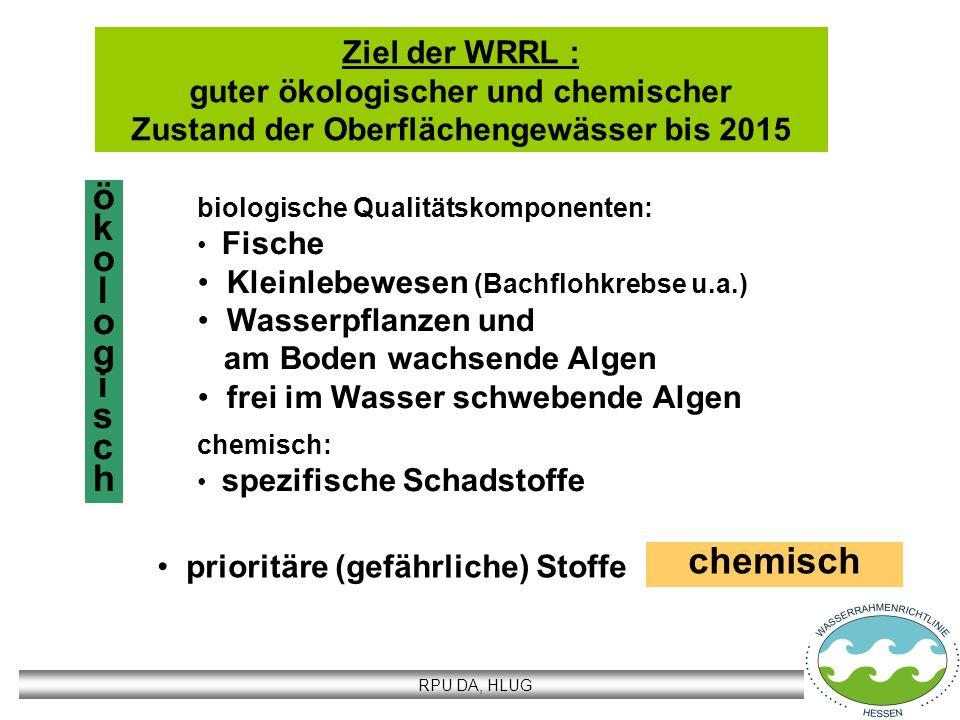 ö k o l g i s c h chemisch Ziel der WRRL :