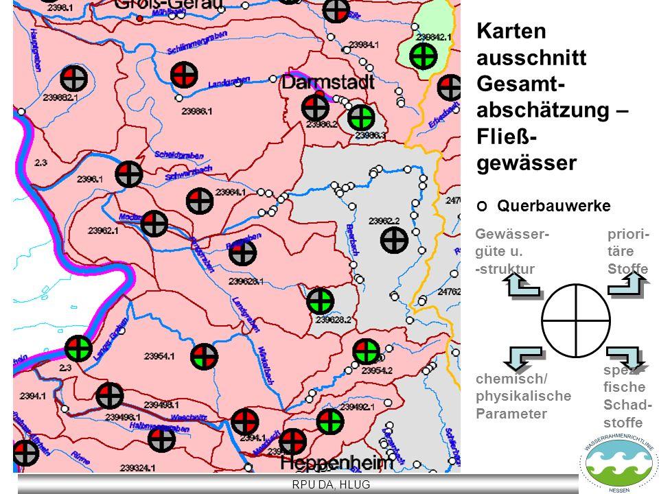Karten ausschnitt Gesamt- abschätzung – Fließ- gewässer