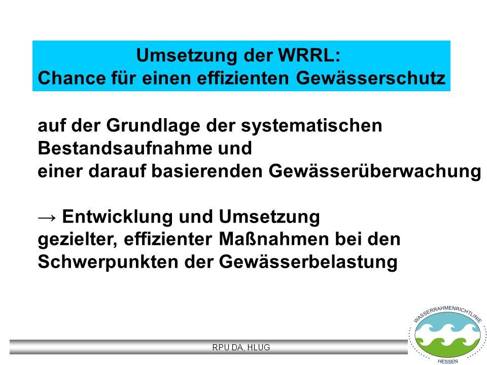 Umsetzung der WRRL: Chance für einen effizienten Gewässerschutz