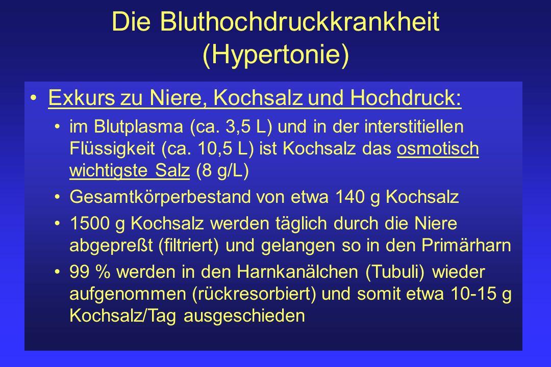 Die Bluthochdruckkrankheit (Hypertonie)
