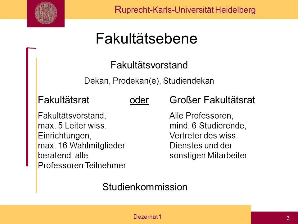 Dekan, Prodekan(e), Studiendekan