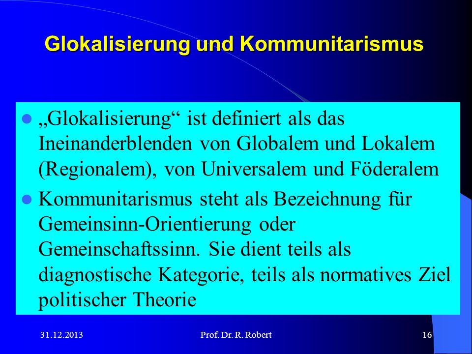 Glokalisierung und Kommunitarismus