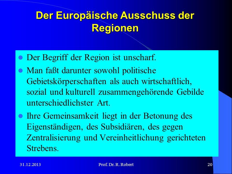 Der Europäische Ausschuss der Regionen