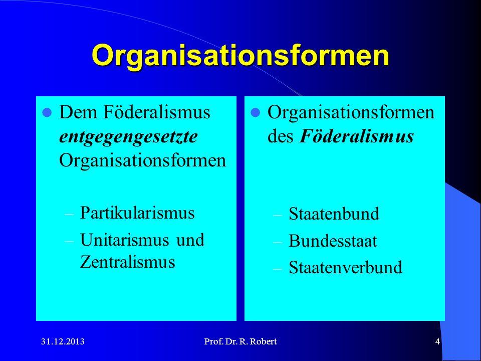 Organisationsformen Dem Föderalismus entgegengesetzte Organisationsformen. Partikularismus. Unitarismus und Zentralismus.