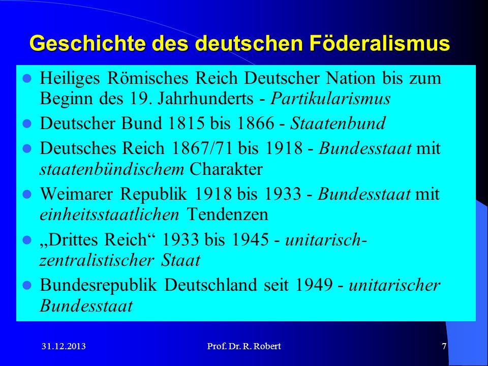 Geschichte des deutschen Föderalismus