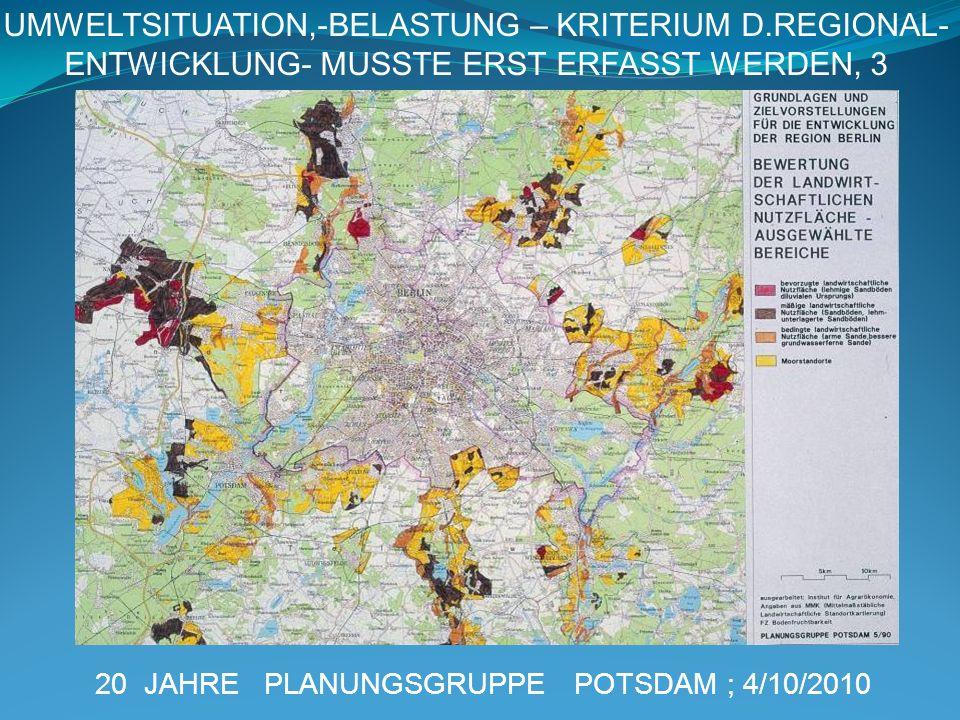 UMWELTSITUATION,-BELASTUNG – KRITERIUM D