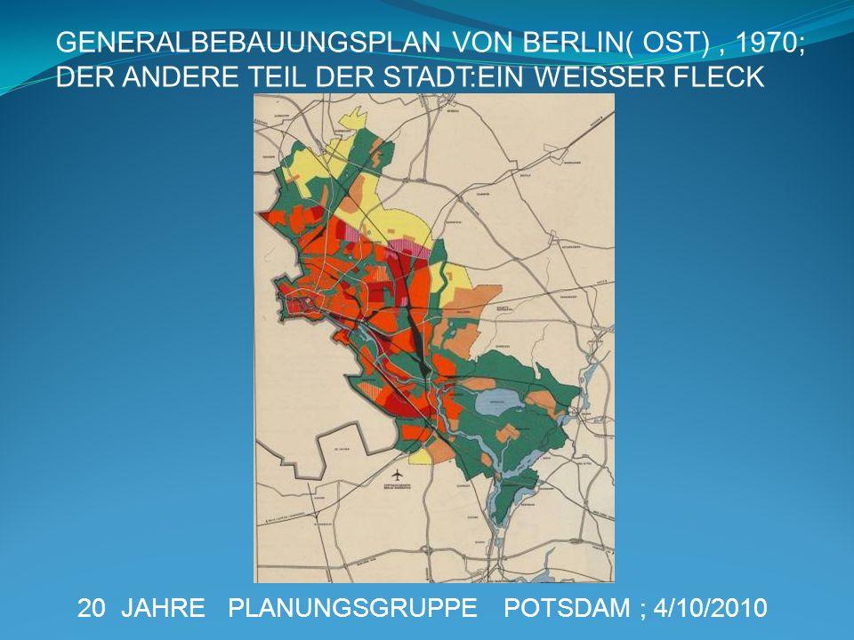 GENERALBEBAUUNGSPLAN VON BERLIN( OST) , 1970;
