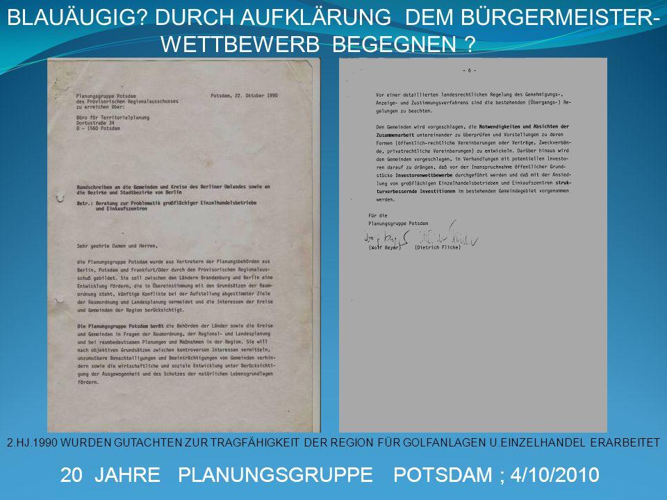 BLAUÄUGIG DURCH AUFKLÄRUNG DEM BÜRGERMEISTER- WETTBEWERB BEGEGNEN