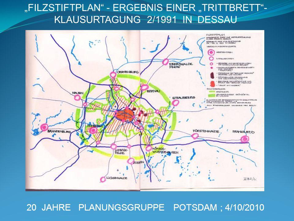"""""""FILZSTIFTPLAN - ERGEBNIS EINER """"TRITTBRETT -KLAUSURTAGUNG 2/1991 IN DESSAU"""