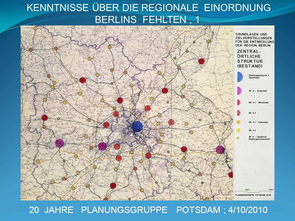 KENNTNISSE ÜBER DIE REGIONALE EINORDNUNG BERLINS FEHLTEN , 1