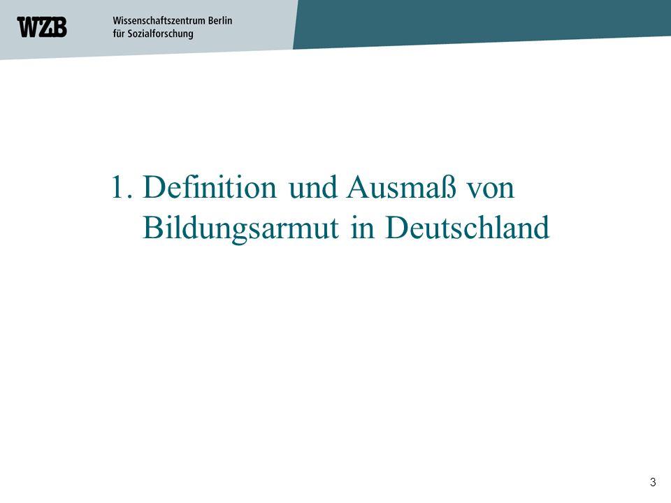 1. Definition und Ausmaß von Bildungsarmut in Deutschland