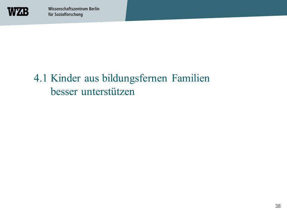 4.1 Kinder aus bildungsfernen Familien besser unterstützen