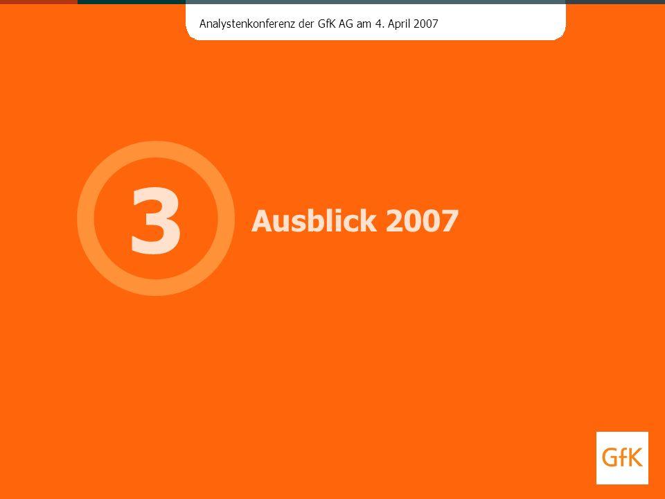 3 Ausblick 2007