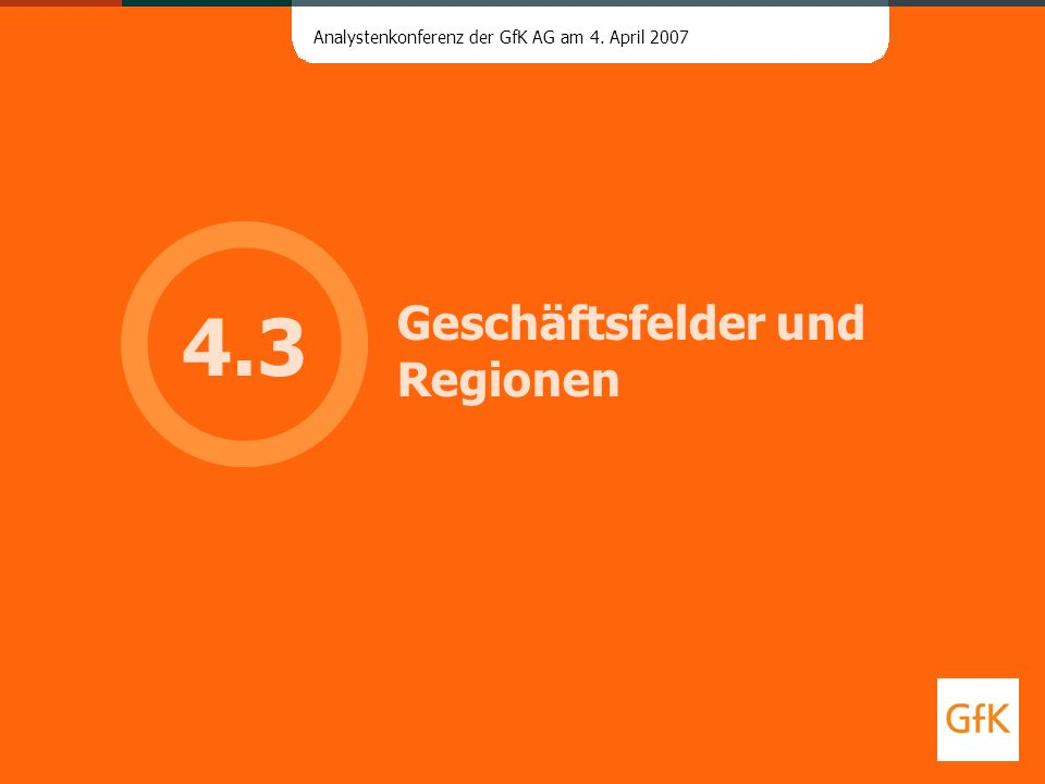 Geschäftsfelder und Regionen