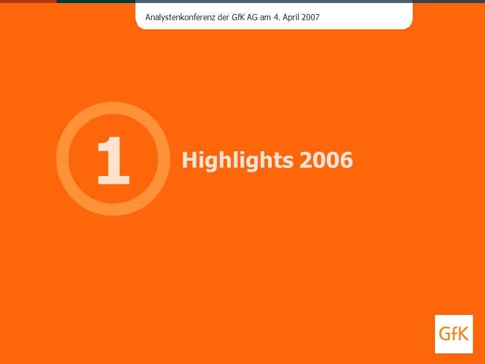 1 Highlights 2006