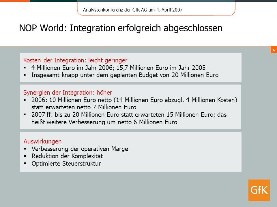 NOP World: Integration erfolgreich abgeschlossen