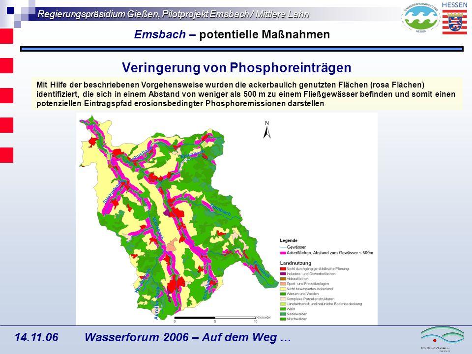 Veringerung von Phosphoreinträgen