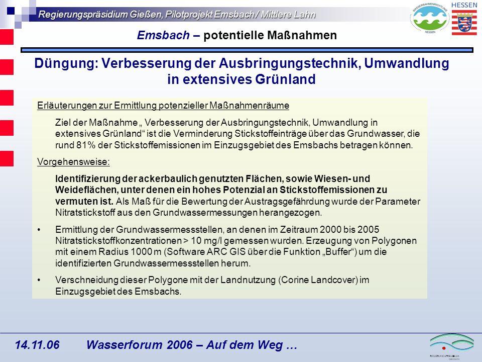 Emsbach – potentielle Maßnahmen
