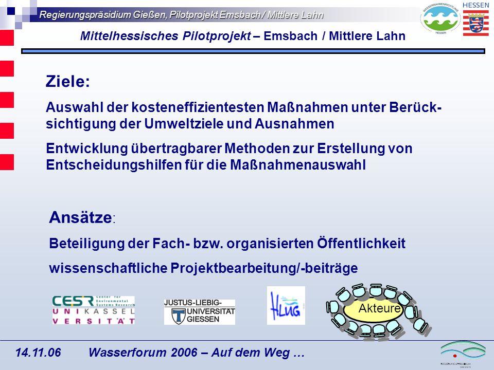 Mittelhessisches Pilotprojekt – Emsbach / Mittlere Lahn