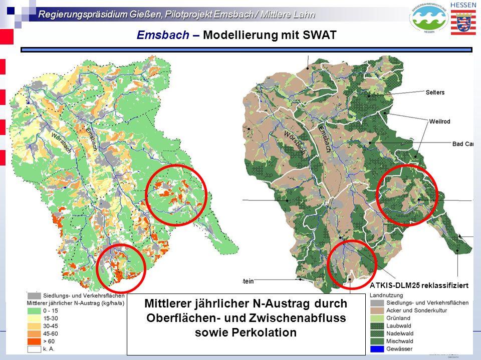 Emsbach – Modellierung mit SWAT