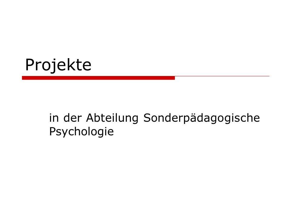 in der Abteilung Sonderpädagogische Psychologie