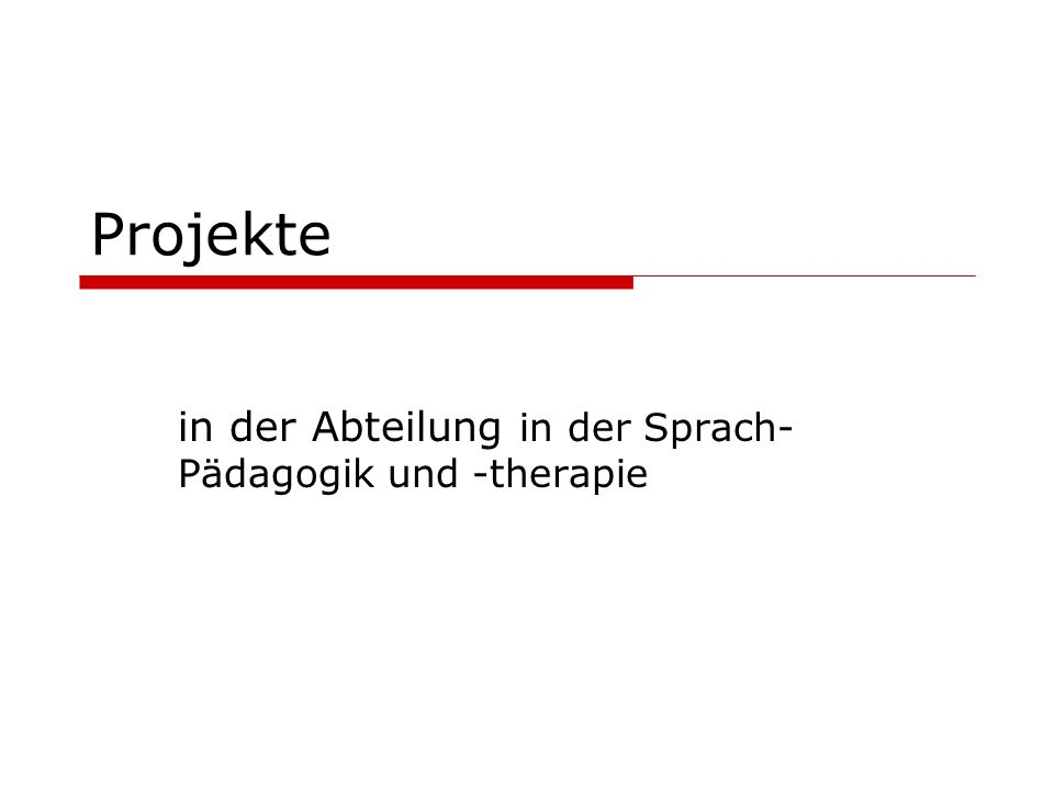 in der Abteilung in der Sprach-Pädagogik und -therapie