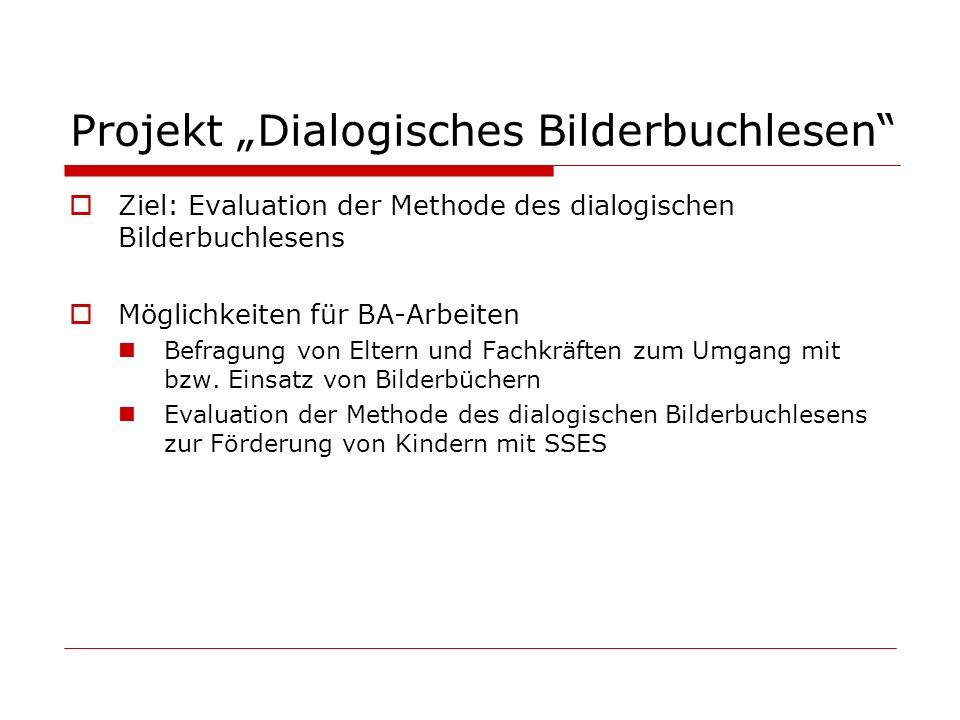 """Projekt """"Dialogisches Bilderbuchlesen"""