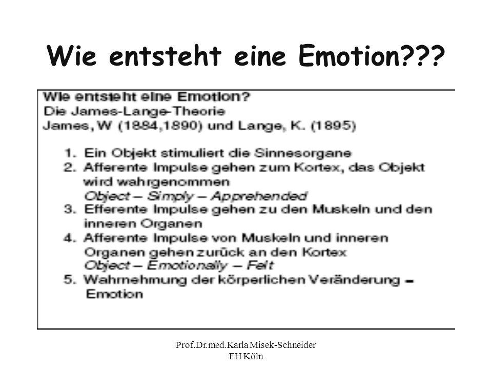 Wie entsteht eine Emotion