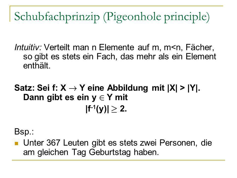 Schubfachprinzip (Pigeonhole principle)