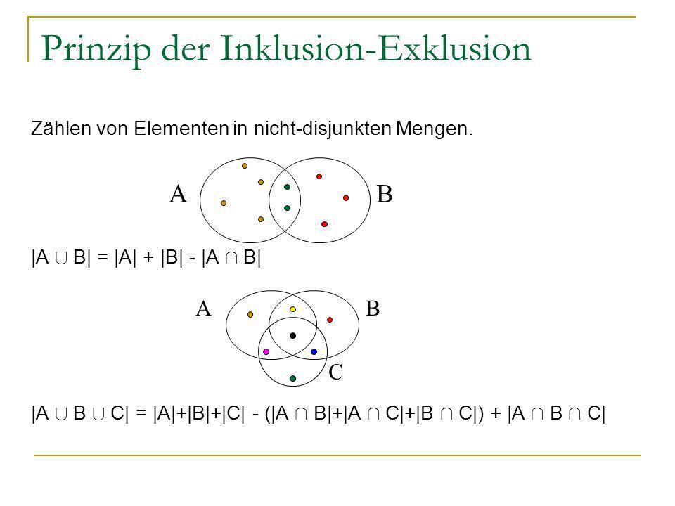Prinzip der Inklusion-Exklusion