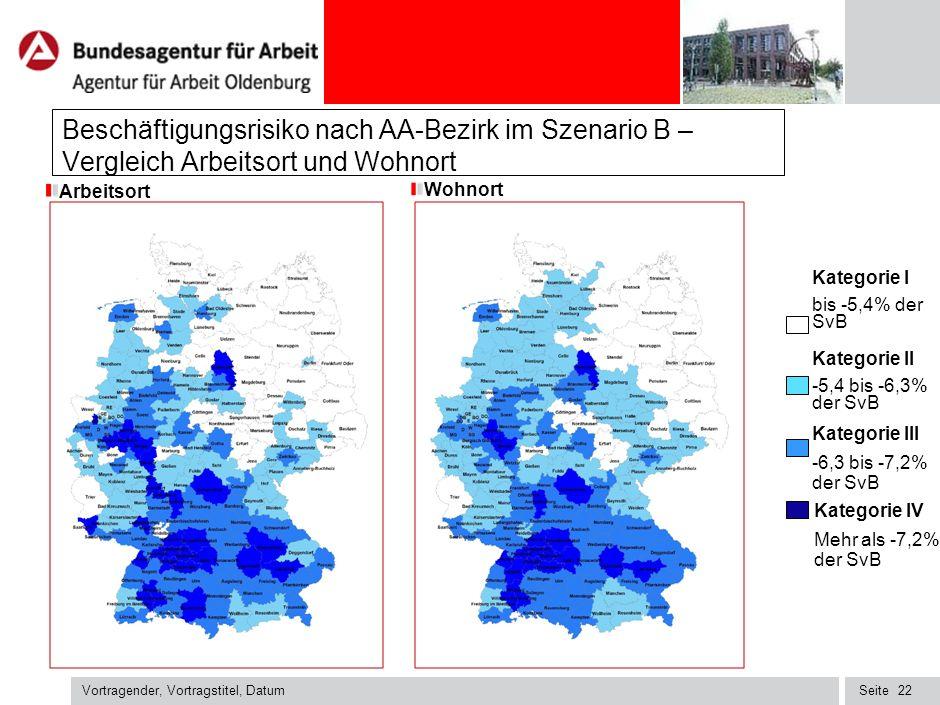 031212MVA2_022126_003_k Beschäftigungsrisiko nach AA-Bezirk im Szenario B – Vergleich Arbeitsort und Wohnort.