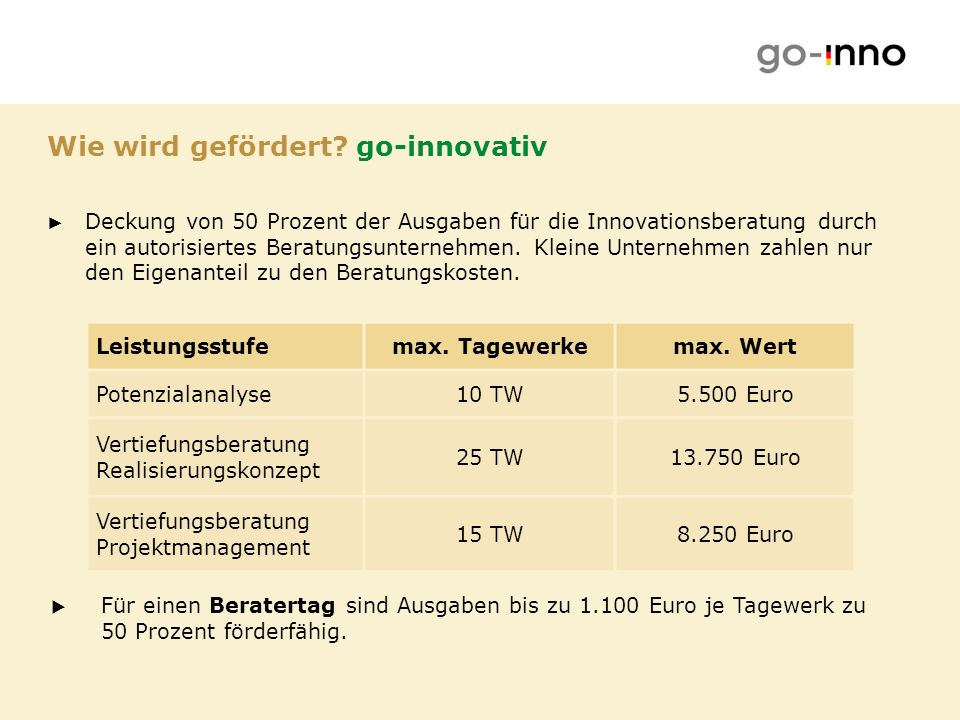 Wie wird gefördert go-innovativ
