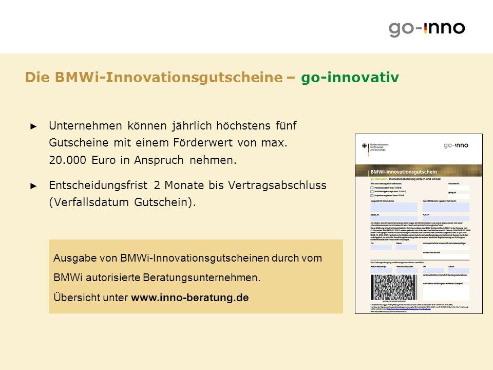 Die BMWi-Innovationsgutscheine – go-innovativ