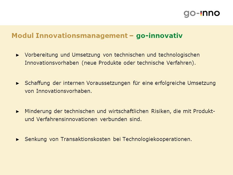 Modul Innovationsmanagement – go-innovativ